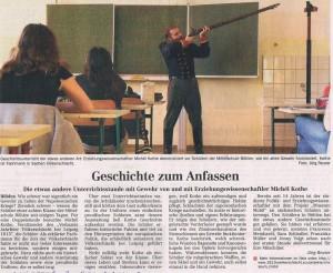 Presseartikel zum Museum Mobil, Leipziger Volkszeitung Borna-Geithain, 2.+3. Oktober 2010