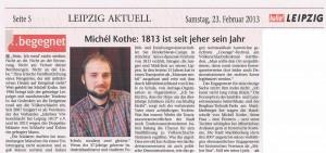 Presseartikel zur Person, hallo Leipzig, 23. Februar 2013